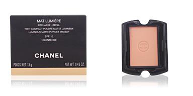 Chanel MAT LUMIERE compact refill #100-intense 13 gr