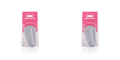 Beter CEPILLO uñas doble, púas de nylon #gris 1 pz