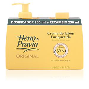 HENO DE PRAVIA crema jabón dosificador+recambio 250 ml